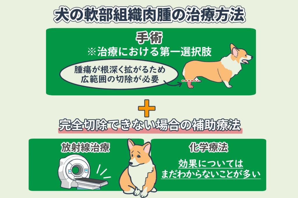 犬の軟部組織肉腫の治療方法
